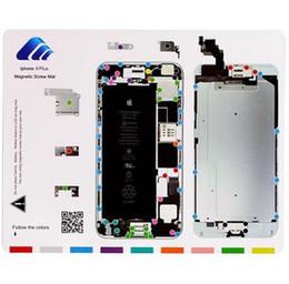 Herramienta de apertura de DYI Taco magnético lleno de la estera del trabajo del cojín del trabajo para el iphone 6S 6 más 6G 5S 5 5C 4S 4 Reparación Desmontar el sistema del sistema de la placa desde iphone 4s conjunto completo fabricantes