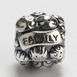 New 100% 925 Sterling Silver Loose Beads Family Love Charm Bead Fits European Jewelry Bracelets & Necklaces