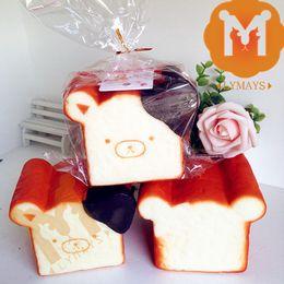 Wholesale 24pcs Jumbo Scented Rilakkuma Toast Squishies Squishy Charm Key Chain Wholesales