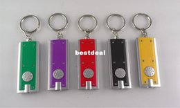 Wholesale Tetris LED Keychain Light Box type Key Chain Light Key Ring LED advertising promotional creative gifts small flashlight Keychains Lights