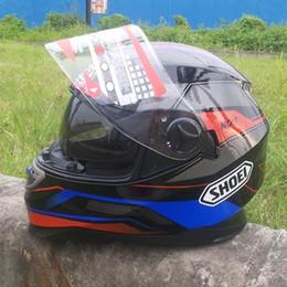Wholesale Hot sale SHOEI motorcycle helmet full helmet Motorcycle Helmet ATV helmet Safety dual lens black