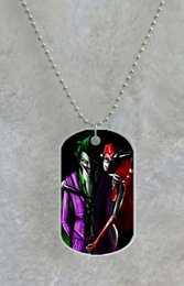 Welcome! Batman Joker Harley Quinn Popular custom Pet Dog Tag pendant necklace Chain Metal Tags