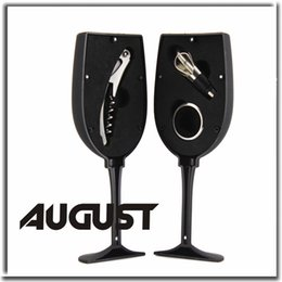 Wholesale 3pcs Wine Glasses style Wine Openers Sets Bar Accessories Red Wine Bar Tools Stainless Steel Personalized corkscrew Dinner Party Gifts