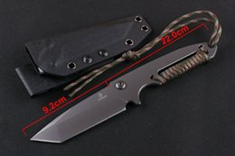 New Strider knives U.S. strike team combat knives,D2 steel integrated +rope outdoor survival knife camping hunting knife