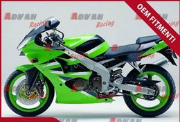 Painted green custom injection mold fairing Kawasaki Kawasaki Ninja ZX6R 2000-2002 71