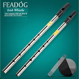 Wholesale Feadog Nickel Plating Irish Whistle C Key Tone Sweet Penny Whistle