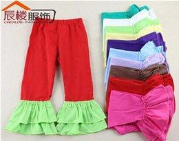 Wholesale Hot Sale Kid Wear Harem Pants Baby Pants Ruffle Baby Leggings Girls Ruffle Pants girl loose pants girls winter pants
