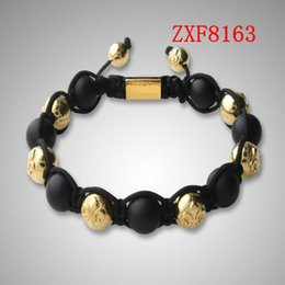 Wholesale COOL Gold alloy bracelet for men hand made beads bracelets shamballa bracelet supplier cheap nialaya Natural stone bracelets FactoryZXF8163