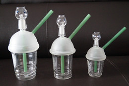 Ongles en verre pour l'huile en Ligne-2016 Hot Starbuck Cup Original opaque Green Bright Dab concentré Oil Rig Bong en verre Dabuccino tasse Nail Hookah Interface 18.8mm Glass Pipe