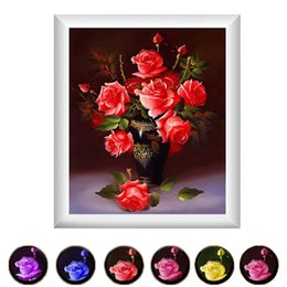 Wholesale Diy Diamond Embroidery D Painting Rhinestones Rose Flower Cross Stitch Kits Embroidery With Diamonds Diamond Mosaic Picture