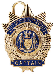 Wholesale US CITY OF NEW YORK POLICE CAPTAIN METAL BADGE