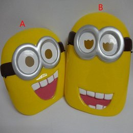 Wholesale Children Holiday party despicable me mask new Boy girl lovely cartoon despicable me minions mask design B