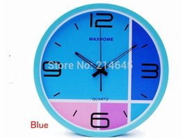 Wholesale M3 inch cm MAX HOME Brushed aluminum casing wall clock well quality good service fast ship