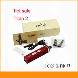 Titan kit II E cigarette brûler les herbes sèches Vaporisateur stylo avec 2200mAh batterie LCD Titan 2 vapeur coffret cadeau de titane à partir de e cadeaux fabricateur