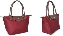 Wholesale Women Nylon Leather Handbag Shoulder Bag envelope Foldable Folding Shopping Hobos Diaper Baby Bags Travel Tote Bolsas feminina