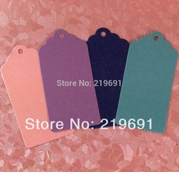 wholesale Free Shipping 4 Colours Pink ,Purple ,Hang Tag Each Lot One Colour size 4x7cm Garment Tag Swing Tag Price Tag
