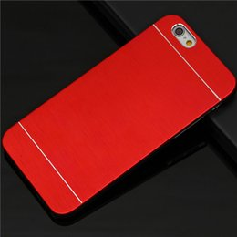 Wholesale hot sale luxury phone case for iphone s i phone5s ipone anti knock abs shell and brushed metal panel back cover
