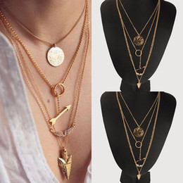 Wholesale Fashion Girls Rhinestones Wings Coins Arrows Chokers Trendy Women Party Vacation Necklace Clothing Accessories