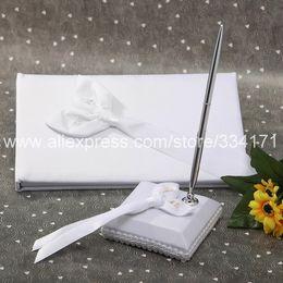 Wholesale Calla Lily Pens - Free Shipping Calla Lily Wedding Wedding Guestbook and Pen Set 1042