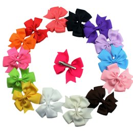 Wholesale 15Colors Cheap Cute Girls Head Pieces Baby Bow Hair Clips OEM Service Factory Sell Bowknot Children Hair Accessories