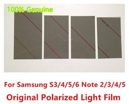 Wholesale 100 Original NEW LCD Polarizer Film Polarizing Screen Sheet For Samsung Galaxy s5 s6 i9500 i9300 Note NOTE