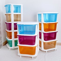 Wholesale Large candy colored plastic drawer storage cabinets lockers finishing cabinet children s bedroom drawers