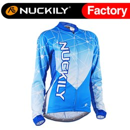Nuckily High-tech cool design long sleeve cycling jersey for women mountain bike long sleeve jersey GC005
