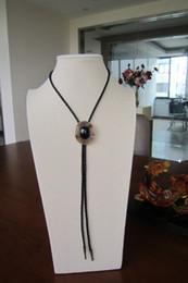 Original Original Antique Gold Plated Nature Black Obsidian Bolo Tie BOLOTIE-015