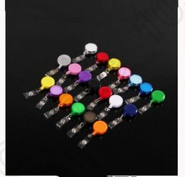 Wholesale 20 color Retractable Reel Recoil ID Badge Lanyard Name Tag Key Card Holder Belt Clip KKA23