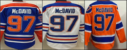 Wholesale 2015 Edmonton Draft Connor Mcdavid American Premier Hockey Jerseys Ice Winter Home Away Jersey Stitched Authentic