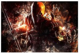 Wholesale 50x75CM Wall Sticker Posters Home decoration Cool Deathstroke Bad Man Good Quality Office Room Poster Affiche Cartel