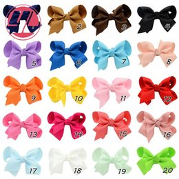 Kids Baby Ribbon Bows with Clip solid color bows clip baby hair bow boutique hair accessories girls hair clips Christmas alligator clip