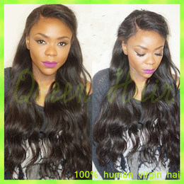 Long Full Lace Human Hair Wigs For Black Women 150% Density Unprocessed Virgin Brazilian Hair Front Lace Wigs Natural Hairline