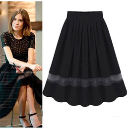 Sexy Womens Retro Organza Bubble High Waist Skirt Pleated Tutu Knee Length Skirts Freeshipping