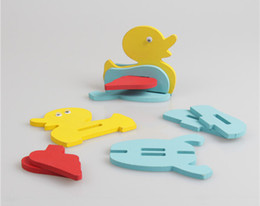 Wholesale-New pattern Free shipping 3D Puzzle Animal Model Baby wooden toys Creative gift