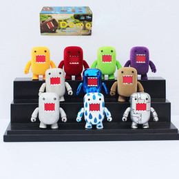 Domo Kun Action Figures PVC Toys Domo Movable Figures 10pcs set Box Packaged 2inch 5cm Free Shipping