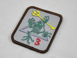 Wholesale Naval Special Warfare Group NSWDG DEVGRU SEAL Team Seals3 Skull frog armband badges