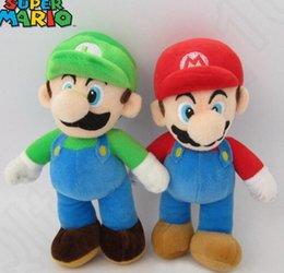 25cm Stuffed Animal Toy Super Mario Mario Mushroom Plush Toys Doll Super Mario Bros. Mario & Luigi Plush Doll KKA29 100pcs