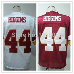 Wholesale Factory Outlet Christmas Clearance Sale John Riggins White Red Men s Throwback Football Jerseys Size Mix order