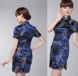 Wholesale 2015 new womens wedding sexy slim oriental dress short cheongsam qipao dresses embroidery chinese traditional