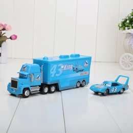 Wholesale RETAIL set Pixar Cars alloy plastic disoco small king toy cars plastic truck toy car