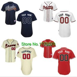 Wholesale 30 Teams Atlanta Braves Jersey Custom Baseball Jersey Me Your Name Your Number Cool Base Stitched Logos Authentic Quality