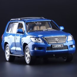 Wholesale High Simulation Exquisite Collection Toys CaiPo Car Styling LEXUS LX570 Luxury Off Road Alloy SUV Car Model Best Gifts