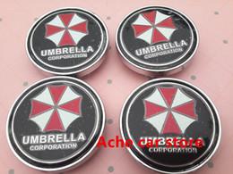 Wholesale xterior Accessories Emblems mm UMBRELLA CORPORATION wheel center hub cap Outlander wheel cap cover Auto accessories Free shipp