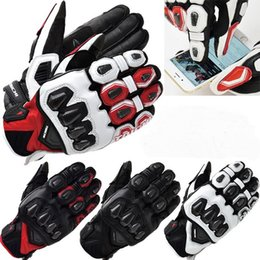 2016 New RS TAICHI 422 Spring leather carbon fiber Moto racing gloves motorcycle riding gloves can touchscreen 4 colors M L XL