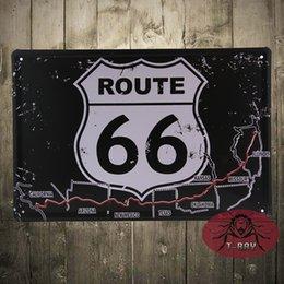Wholesale Route road Metal Decor Wall Art Sports Shop Store Cave Bar D price