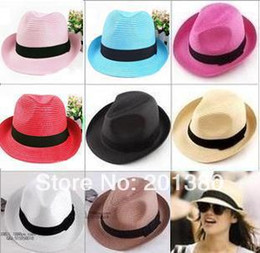 2014 new fashion solid straw hat Sun Hats for women man