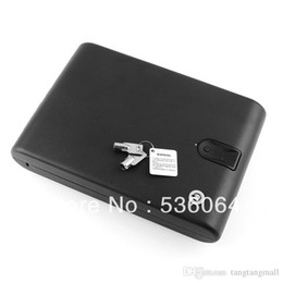 Wholesale Biometric Fingerprint Safe Box Key Gun Vault Jewelry Box Cable Portable Bio box Freeshipping A5