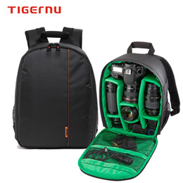 Wholesale Dslr Camera Bag Authentic High Quality Digital Camera Bags Nylon Waterproof Shockproof Backpack Double Shoulder Bag For Canon Nikon