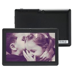 Wholesale Hot iRuLu Q88 Q8 quot Inch Android A23 Tablet PC Dual Camera GB MB Capacitive Pink Black White Tablet Gift For Chrismas Day